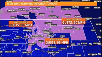 High wind warnings, winter weather advisories for mountains