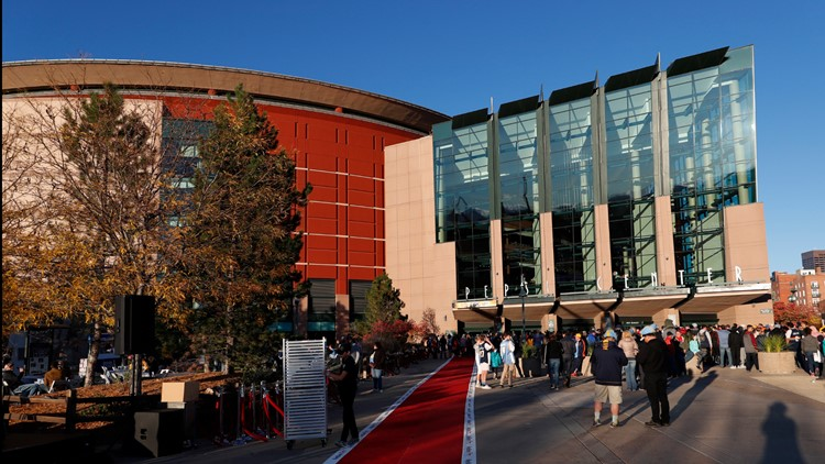 Pepsi Center in the first half of an NBA basketball game Saturday, Oct. 21, 2017, in Denver.
