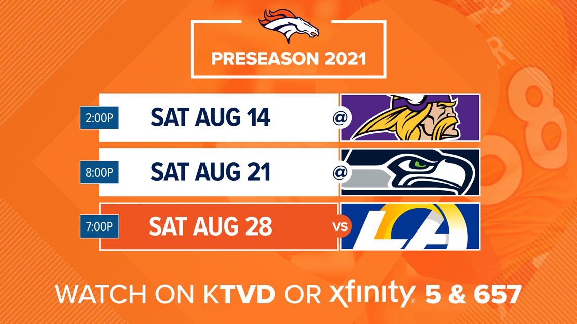 Where to watch & stream Denver Broncos preseason games in 2021 | 9news.com
