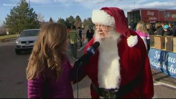 Santa Claus makes pitstop at 9Cares Colorado Shares food drive