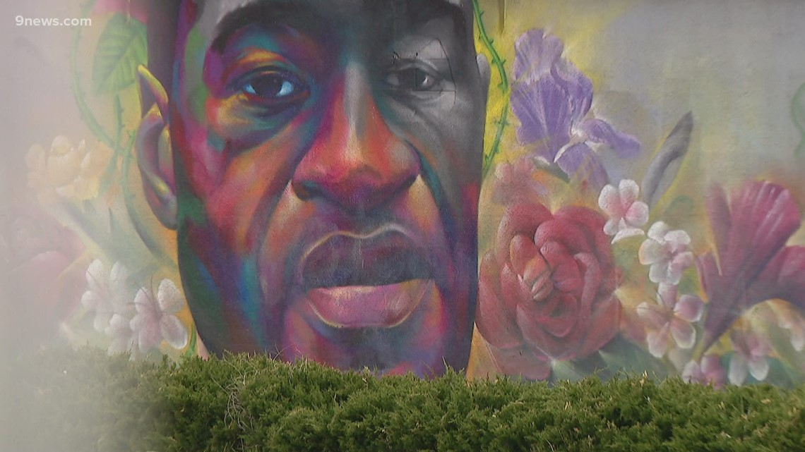 Many visit George Floyd mural in Denver after Chauvin verdict
