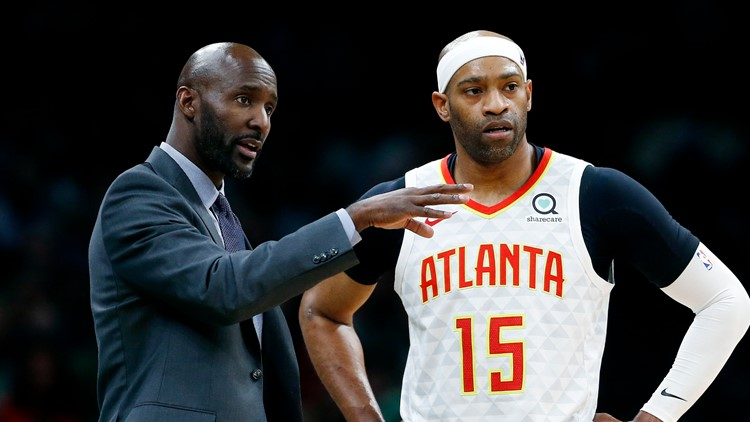 Hawks Celtics Basketball Lloyd Pierce Vince Carter