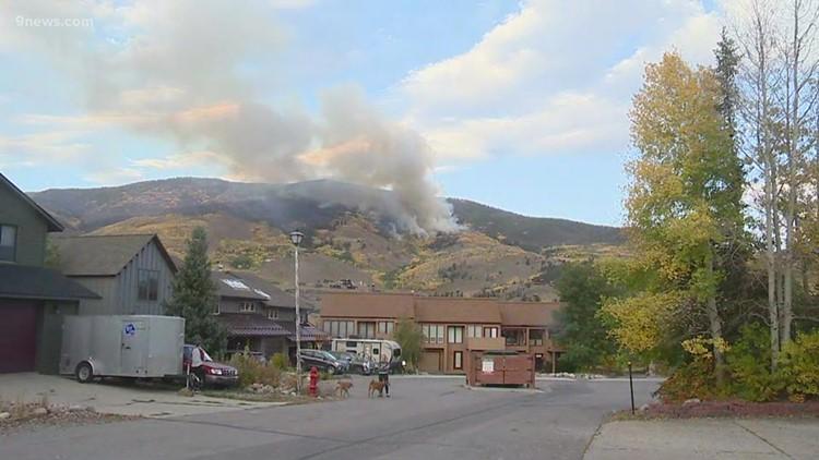 Wildfire burning above Silverthorne