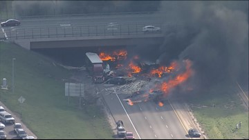 Multiple people killed after 15 vehicles catch fire on I-70 near Denver West