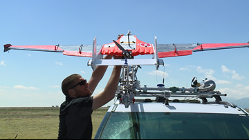 CU students test drones for storm chasing project
