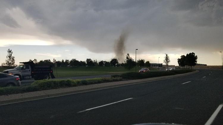 Possible tornado at Broncos Pkwy and Jordan Road