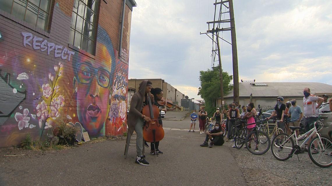 Bike tour of Denver murals celebrates Black artists, mourns Black lives