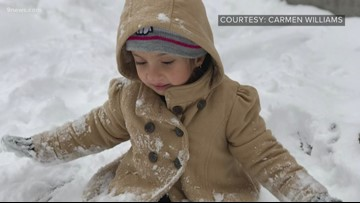 'It's amazing!': 4-year-old's reaction to her first time playing in Colorado snow