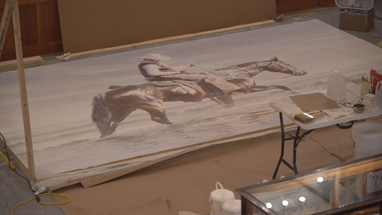 Colorado artist painting world's largest watercolor