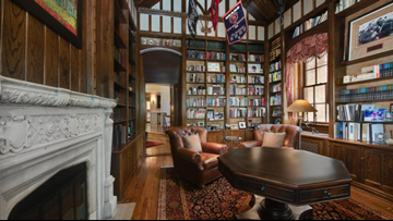 Denver Country Club estate with a classic library, stunning tower listed for $6M