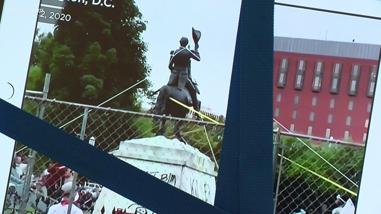 Destruction of monuments viewed in a different lens