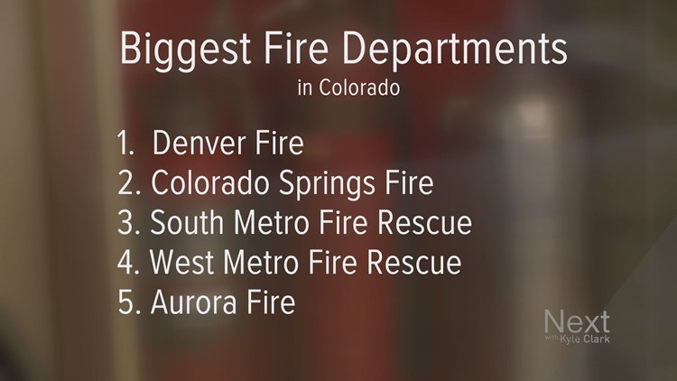 These are the five biggest fire departments in Colorado as of July 2018. This will change in coming months, as South Metro merges with Littleton.