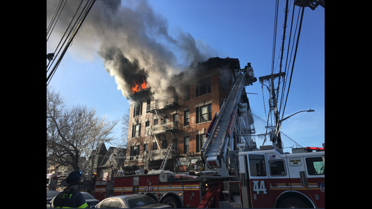 Fdny  Firefighter Hurt In 7 Alarm Fire