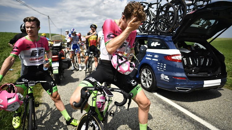 Tour De France Briefly Halted After Riders Are Pepper-Sprayed Amid Protest