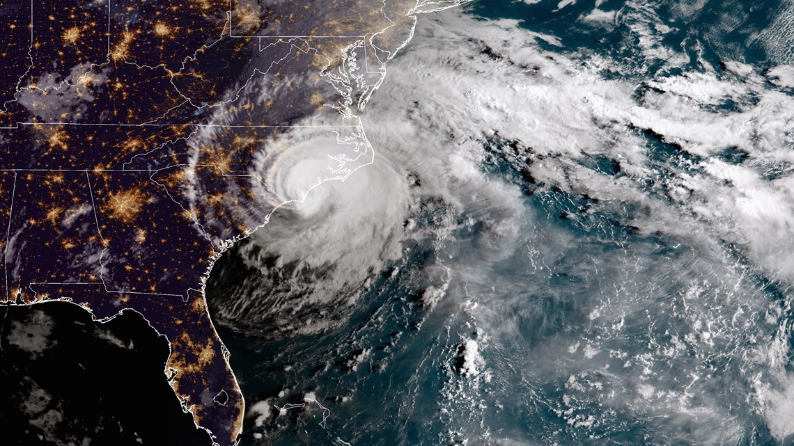 Hurricane Florence crawling toward the Carolinas, coastal water levels rising