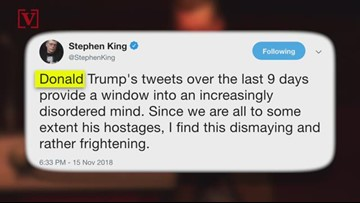 Stephen King Calls Trump's Latest Tweets 'A Window Into An Increasingly Disordered Mind'