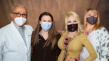 'A dose of her own medicine': Dolly Parton receives COVID-19 vaccine after helping fund it