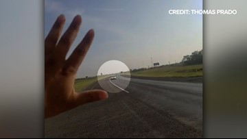 Texas hero helps save 94-year-old wrong-way driver, and it's all on video