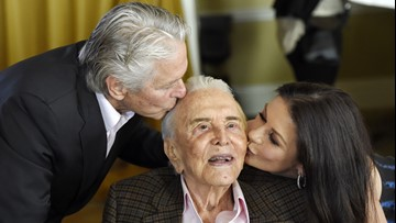 'A living legend': Michael Douglas wishes father Kirk a happy 103rd birthday