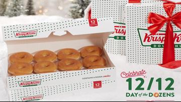 Sweet deal! Get a dozen Krispy Kreme Doughnuts for $1 after you buy a dozen