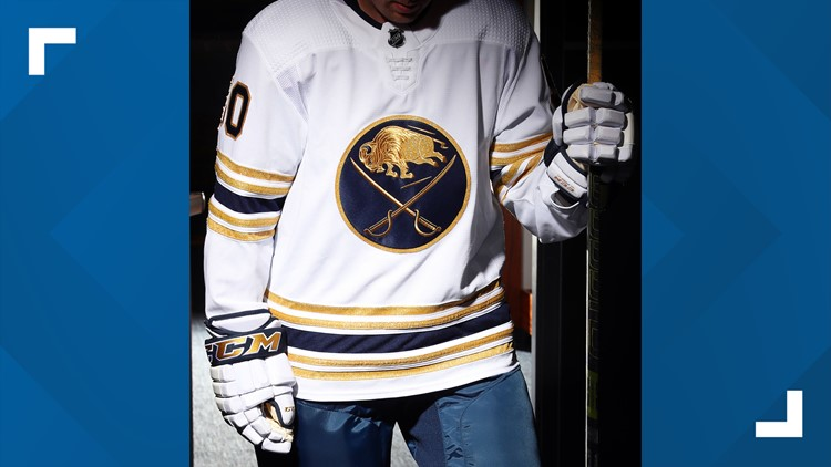 Sabres unveil new golden jersey to celebrate 50 years in Buffalo