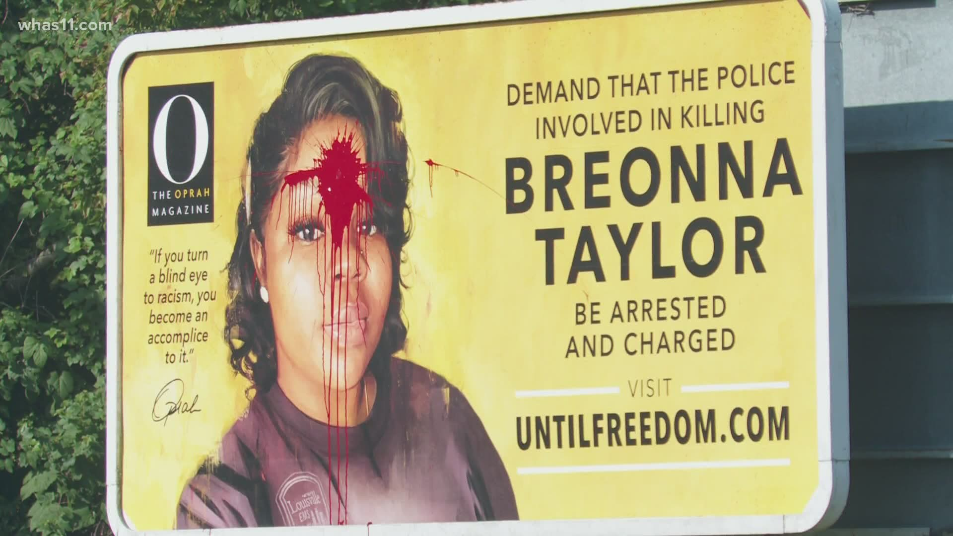 Breonna Taylor Billboard Commissioned By Oprah Vandalized 9news Com