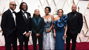 Student suspended for dreadlocks walks Oscars red carpet with 'Hair Love' creators