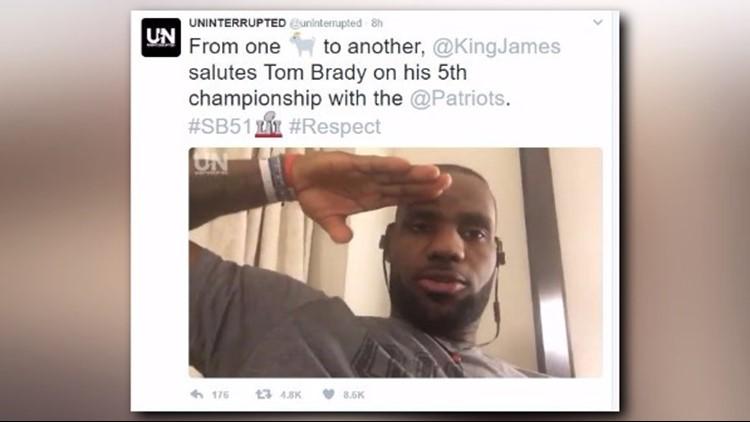 WATCH | LeBron James salutes Tom Brady for Super Bowl LI victory