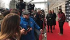 On the red carpet for Rock and Roll Hall of Fame induction ceremony