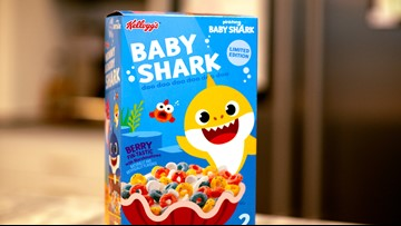 Baby shark cereal available at Sam's Club this weekend