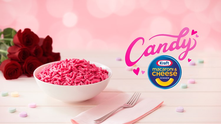 Kraft releases 'candy' mac and cheese for Valentine's Day