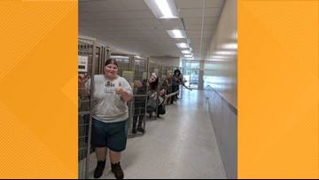 Jacksonville Humane Society shows off empty cages ahead of Hurricane Dorian