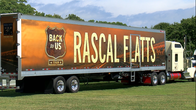 Setup underway for Rascal Flatts at Bash on the Bay