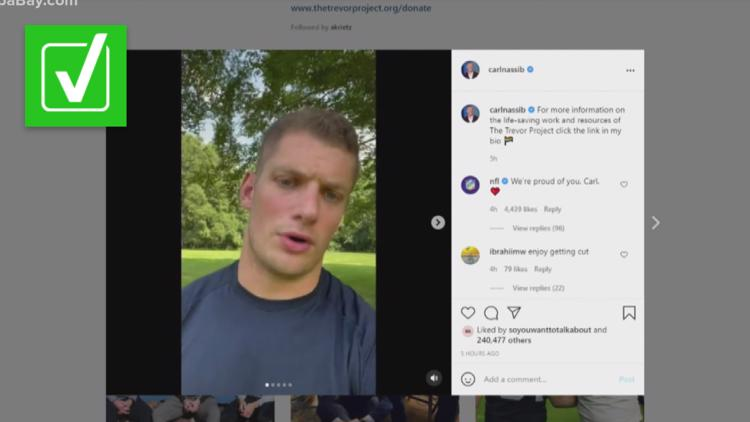 Yes, Carl Nassib is the first active NFL player to come out as gay, but before Nassib there was Michael Sam