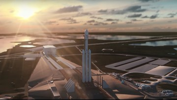 SpaceX animation shows Falcon Heavy operation from liftoff to orbit