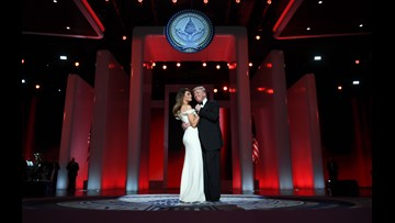 President Trump & First Lady share first dance at Liberty Ball