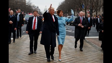 President Trump takes action at inauguration