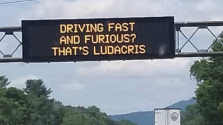 Ludacris responds to 'Fast and Furious' highway sign