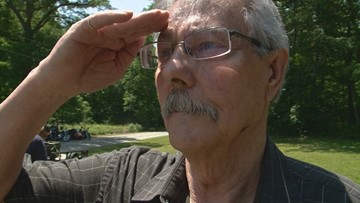 Patriot Guard Riders grant veteran's dream of raising his father's flag