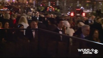 Huge lines for inaugural balls
