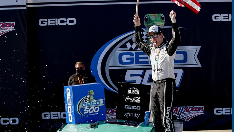 Keselowski claims 6th win at Talladega with overtime pass