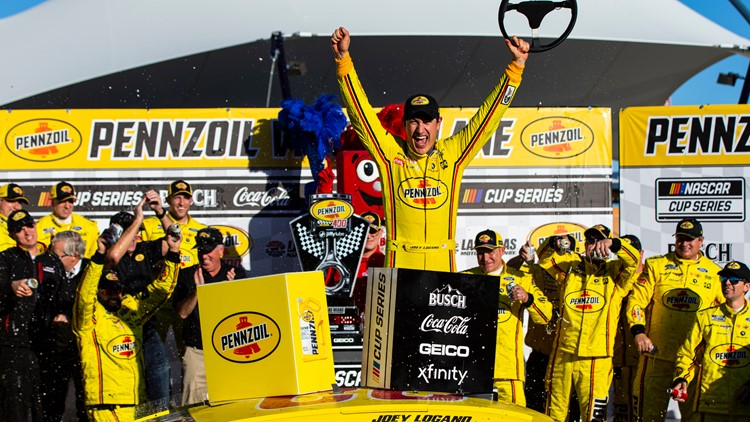 Logano capitalizes on final restart to defend Las Vegas Cup win