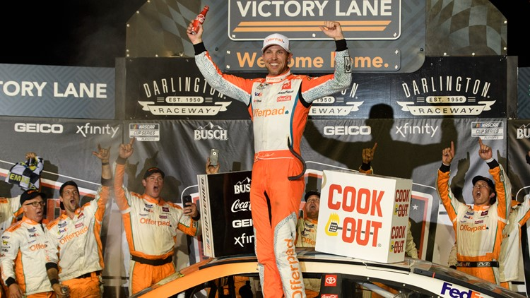 Hamlin wins Southern 500 to open NASCAR Cup playoffs
