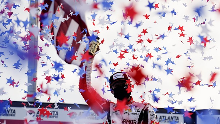 Ryan Blaney wins at Atlanta after Larson fades on old tires