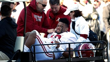 Alabama's Tagovailoa out for the season after dislocating hip