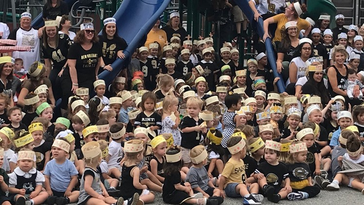 Students make 'Child of God' headbands to support New Orleans Saints linebacker