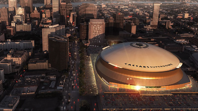 New Orleans' Superdome gets a new name