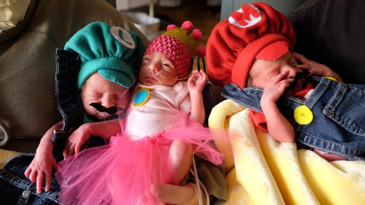 Nurses dress neonatal intensive care babies for Halloween